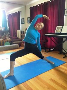 Yoga - reverse side angle